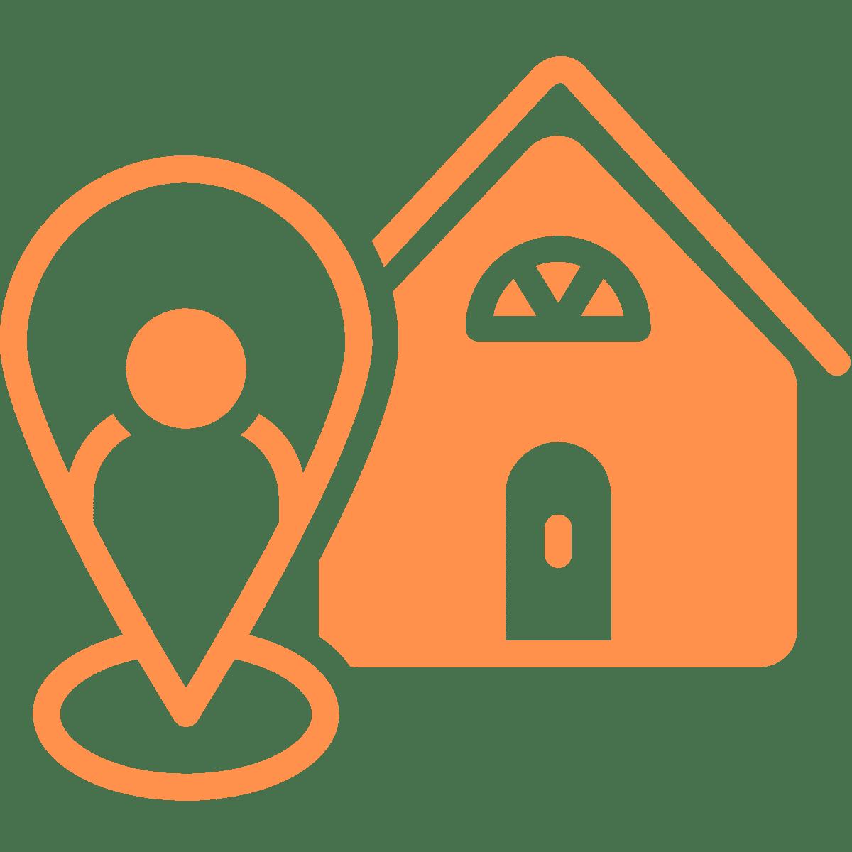 Icon physischer Standort