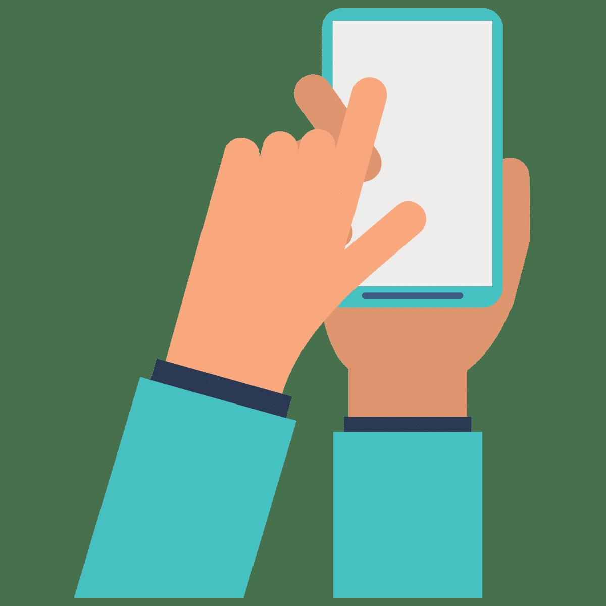 Icon für Touchscreen auf dem Smartphone