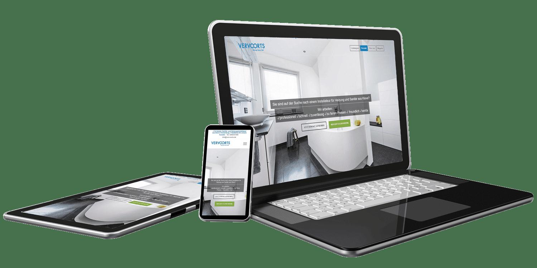 Responsive Webdesign - Referenz Handwerker- Webseite Vervoorts