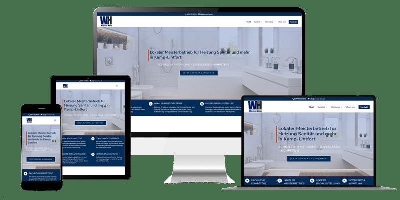 Webdesign mit responsive Design Homepage- Referenz Hein