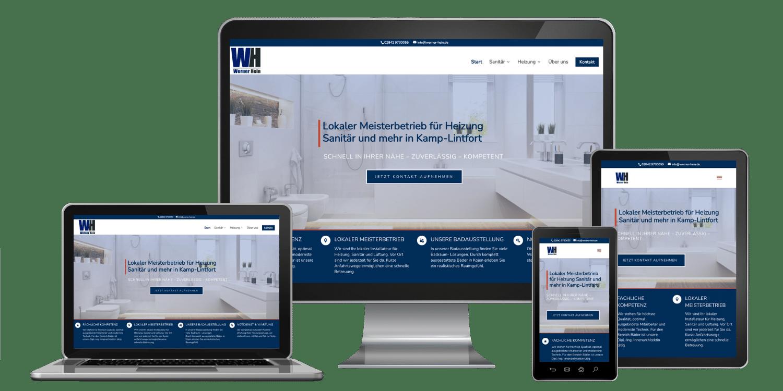 Professionelle Website erstellen lassen zum Festpreis inklusive responsive Webdesign - Referenz Hein