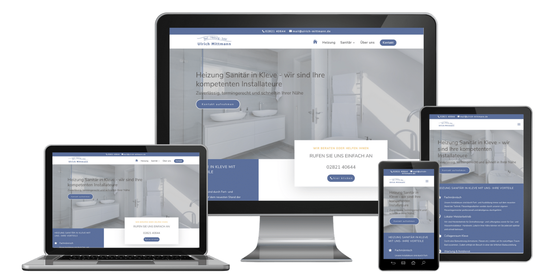 Professionelle Website erstellen lassen zum Festpreis inklusive responsive Webdesign - Referenz Mittmann