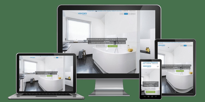 Professionelle Website erstellen lassen zum Festpreis inklusive responsive Webdesign - Referenz Vervoorts